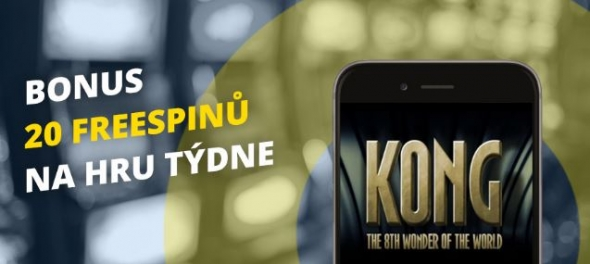 Fortuna Vegas casino: 20 free spinů na automat Kong: The 8th Wonder of the World